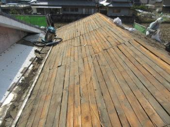 屋根掃除,下地板,瓦葺き替え