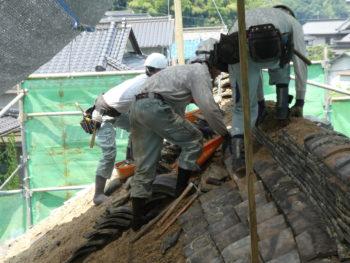 瓦の撤去,安全作業,藤井製瓦工業