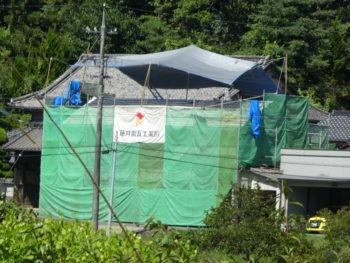 仮設足場,日よけ設置,屋根工事