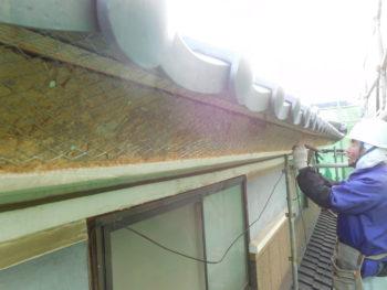漆喰補修,下地壁補修,ネット張り