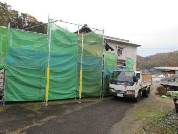 仮設足場,防護用ネット,養生シート