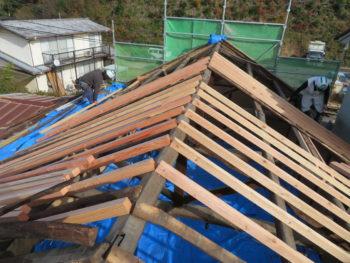 下地調整,屋根補強,垂木の腐食