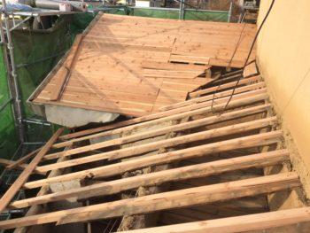 屋根板張替,垂木入替え,耐久性アップ
