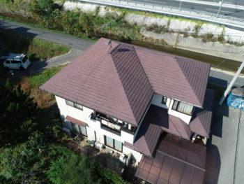 ドローン撮影,屋根調査,福山市