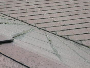化粧スレート,コケ,屋根材の剥離