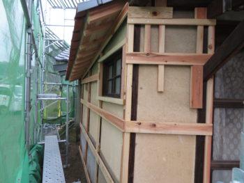 外壁板金,ヨドプリント土佐焼杉,防水処理