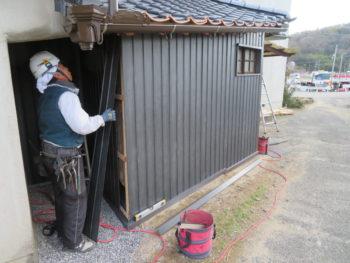 外壁工事,板金張り,壁板金