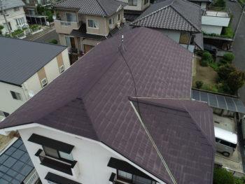 谷板のサビ,屋根材の劣化,化粧スレート