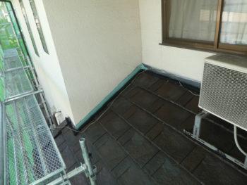 壁際の雨仕舞,水切板金設置,防災対策