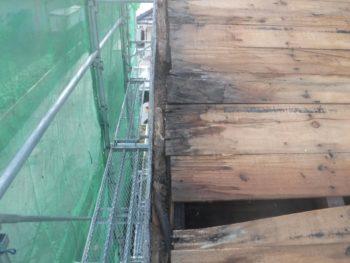 ケラバ修理,瓦落下,垂木の腐食