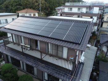 太陽光設置工事,ドローン撮影,屋根写真