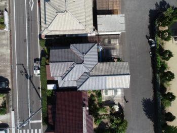 福山市,ドローン調査,複雑な屋根