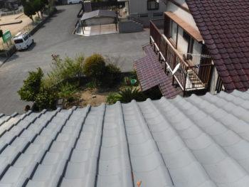 瓦の落下事故防止,三州産釉薬瓦和形,変則屋根