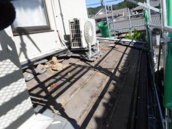 瓦棒撤去,防水シートの劣化,板金工事