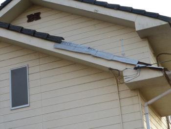 屋根調査,袖瓦落下,瓦修理