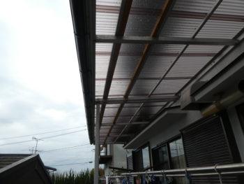ポリカ波板,ベランダ屋根,耐久性向上