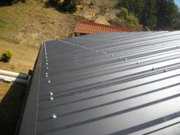 カラーガルバリウム鋼板,倉庫の屋根,既存屋根材