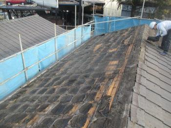 防水シート,瓦撤去,屋根リフォーム