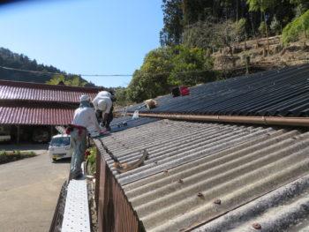 下屋根葺き替え,低コスト,短工期