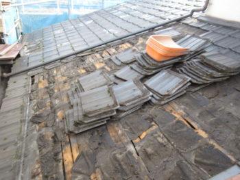 雨漏り,瓦解体,防水紙劣化