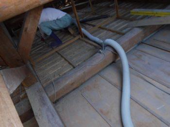 屋根裏の掃除,クリーンカー,福山市