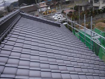 平部,大屋根,瓦葺き替え工事