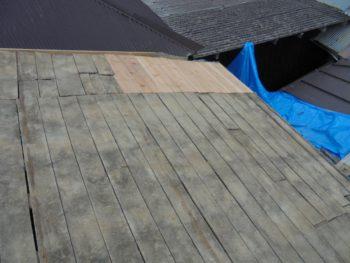 野地板補修,土葺き,雨漏り補修