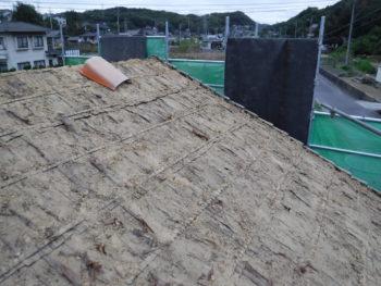 土葺き屋根,耐震性低下,屋根葺き替え工事