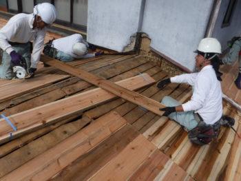 下地板増し張り,屋根軽量化,壁際防水