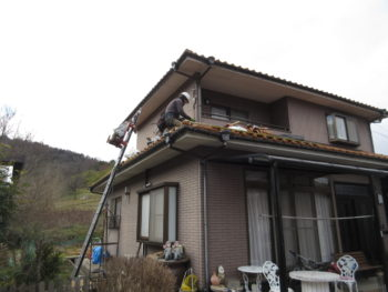 雨漏り箇所,瓦修理,隅棟