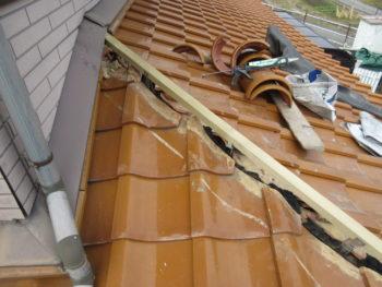 ガイドライン工法,棟巻き直し,冠瓦