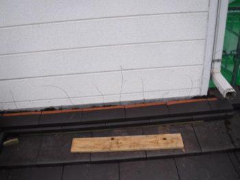 壁際の雨仕舞,のし瓦,銅線緊結
