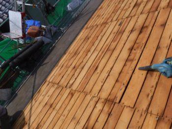 屋根板補修,防水紙の劣化,屋根板腐食