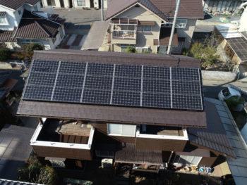 太陽光発電システム,アンティックブラウン,平板瓦