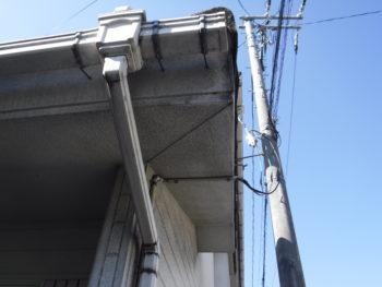 軒天の変色,雨漏り調査,雨樋金具のサビ