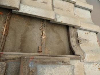 桟木,雨漏り跡,防水紙のシミ