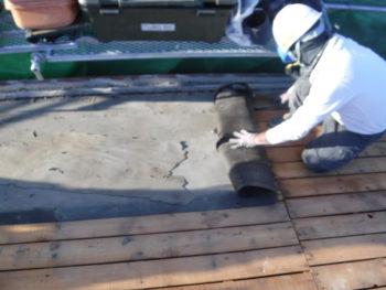 防水シート腐食,下地板補修,野地板